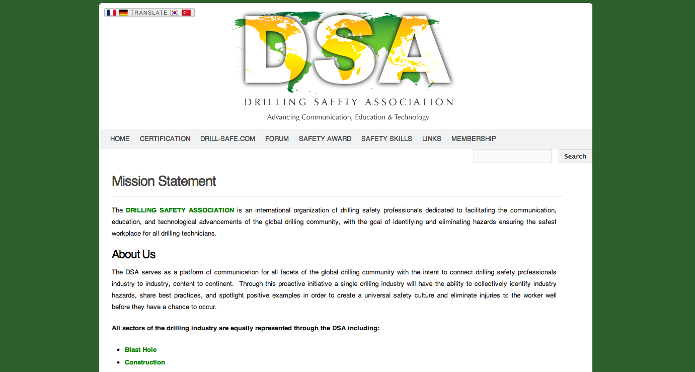 DSA Website