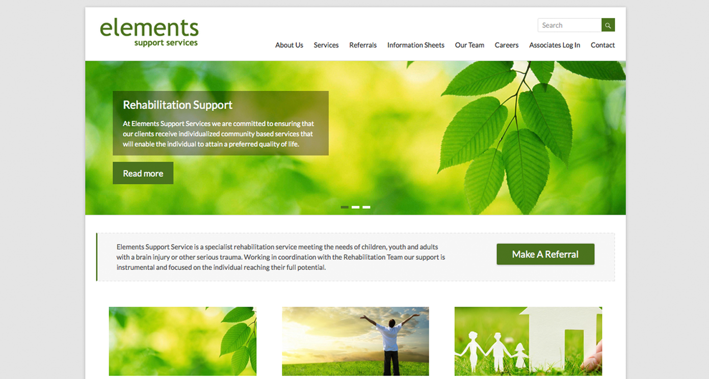 Elements Support Services Website