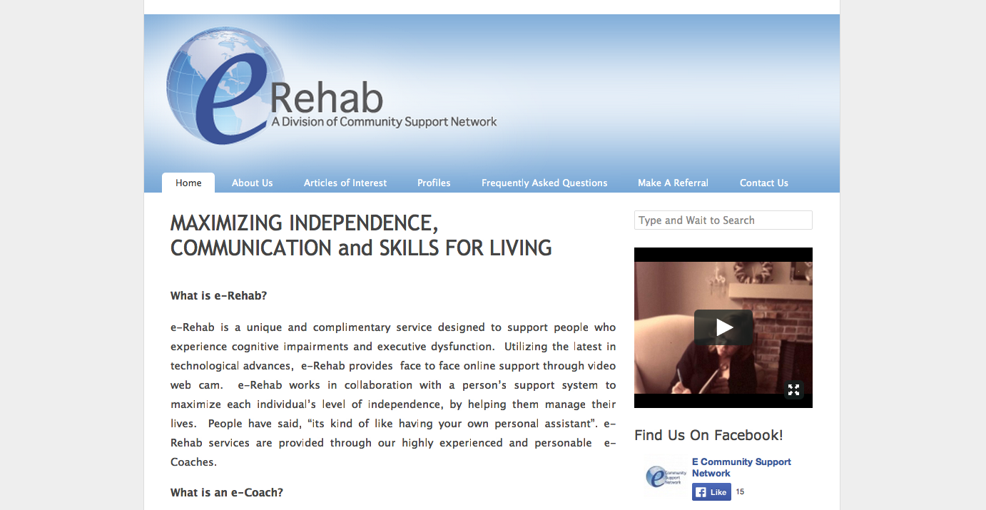 eRehab Website