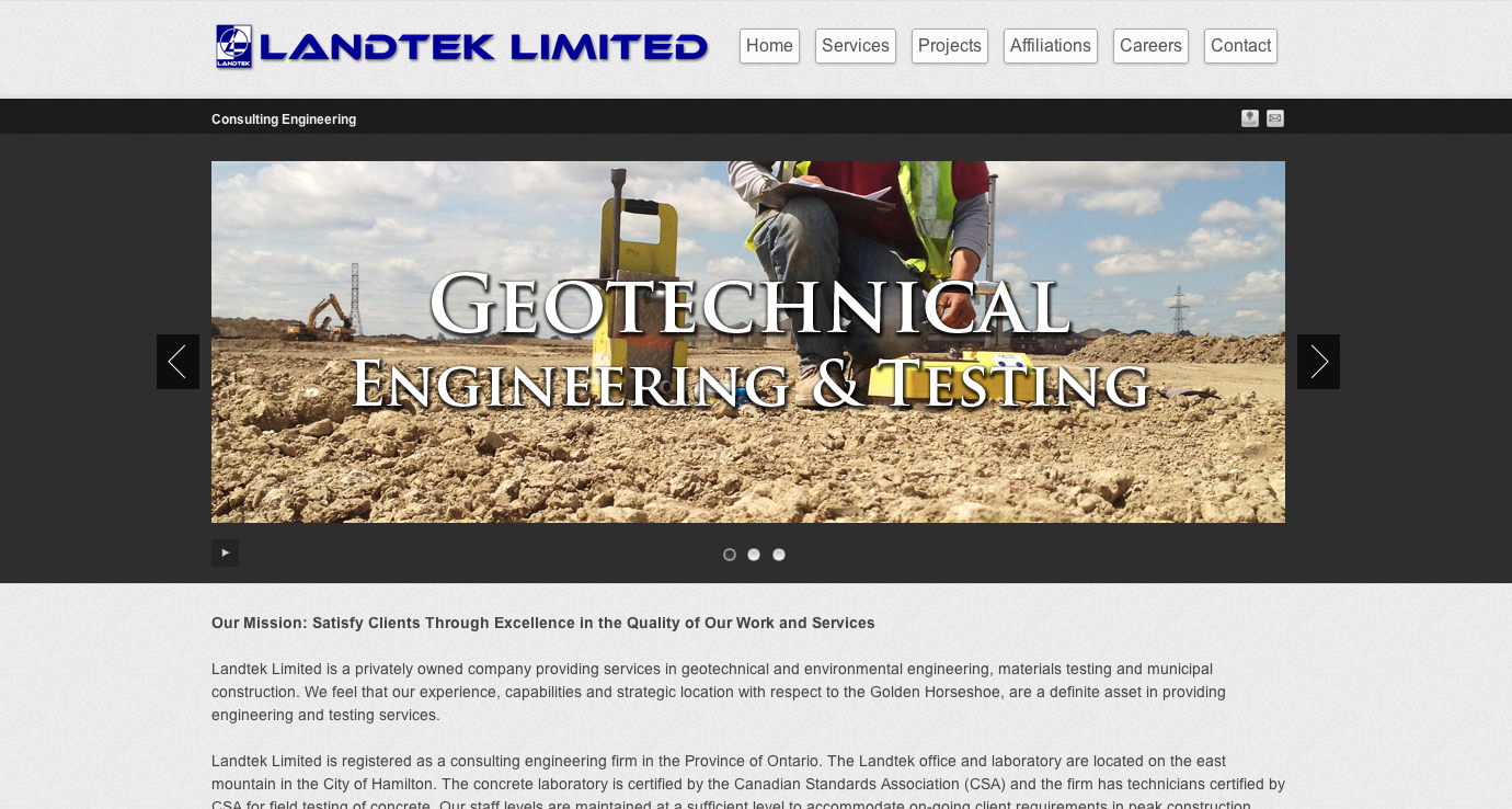 Landtek Limited Website
