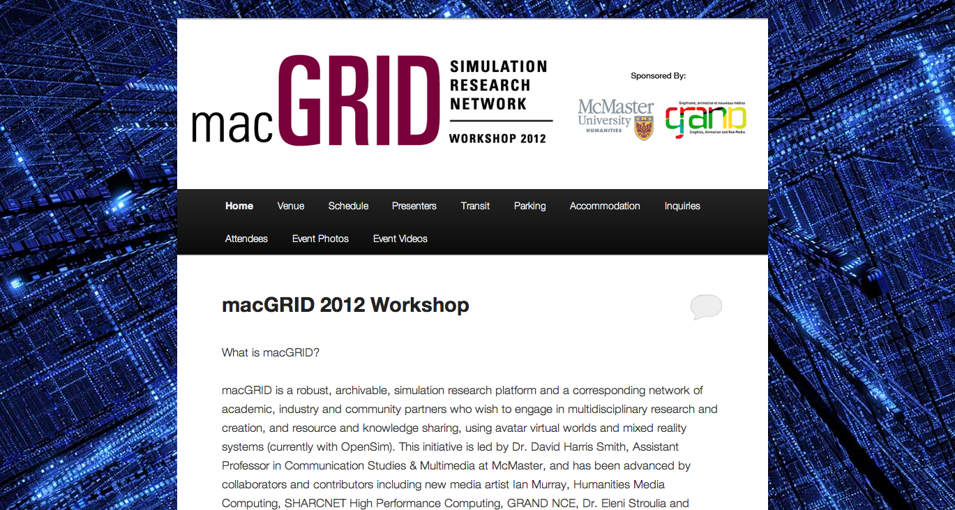 macGRID 2012 Workshop