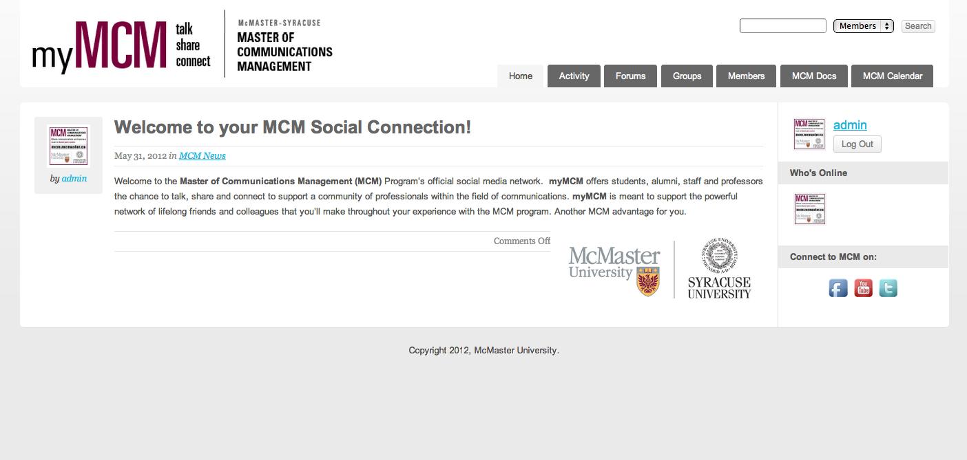 myMCM Website