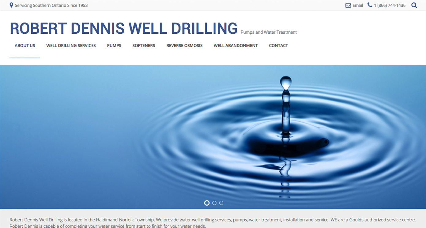 Robert Dennis Well Drilling Website