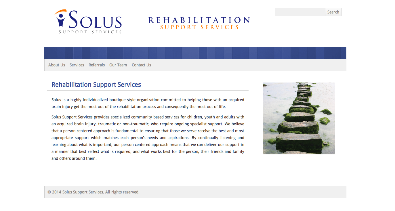 Solus Support Services Website